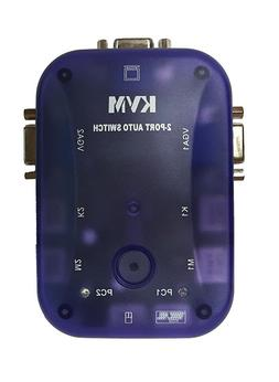 2 Port VGA/SVGA KVM Switch Box PS/2 Devices Share Video Mous