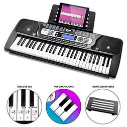 54-Key Portable Electronic Keyboard with Interactive LCD Scr