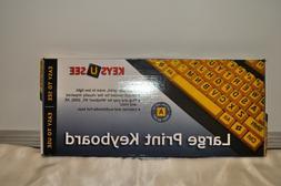 Ablenet Keys-U-See Large Print US English USB Wired Keyboard