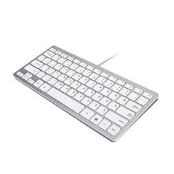 GMYLE Compact Wired USB Mini Keyboard for PC - Metallic Silv