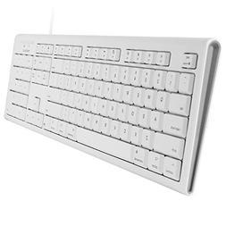 Macally Full-Size USB Wired Keyboard for Mac Mini/Pro, iMac