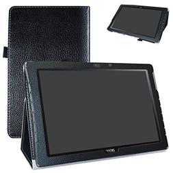 Acer Iconia One 10 B3-A40 Case,Mama Mouth PU Leather Folio 2