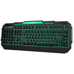 TEC.Bean 7 Colors Adjustable LED Backlit Gaming Keyboard 104