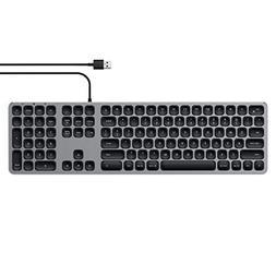 Satechi Aluminum USB Wired Keyboard with Numeric Keypad - Co