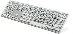 Logickeyboard Large Print Apple black on white keyboard comp