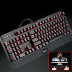 Backlit Keyboard Gaming Computer PC MAC Wired LED Illuminate