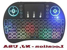 Backlit Mini Keyboard with TouchPad Mouse, Wireless 2.4Ghz,