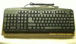 iMicro Basic Spanish Keyboard with 108 Keys, Black