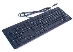DELL BLACK SLIM WIRED USB MULTIMEDIA KEYBOARD GENUINE ORIGIN