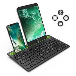 Bluetooth Keyboard, Jelly Comb BK230 Dual Channel Multi-Devi
