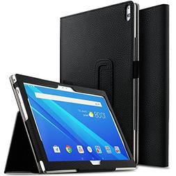 IVSO Case for AT&T Lenovo Moto Tab, Ultra Lightweight Leathe