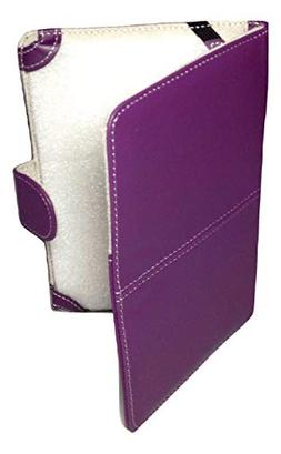 """Classic Purple Faux Leather Kindle 3 Keyboard Case Cover 8"""""""