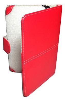 Classic Red Faux Leather Kindle 3 Keyboard Case Cover