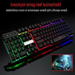 7 Colors Crack LED Illuminated Backlit USB Wired PC Rainbow