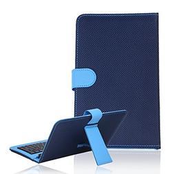 HDE Diamond Stitch Hard Leather Folding Folio Case Cover wit