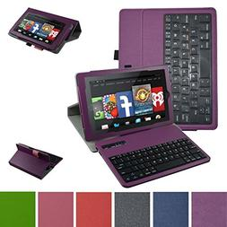 Fire 7 2015 Bluetooth Keyboard Case,Mama Mouth Coustom Desig