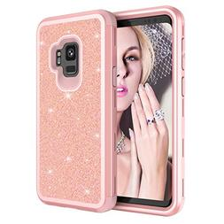 Galaxy S9 Case, MCUK Luxury Glitter Sparkle Bling Slim Fit S
