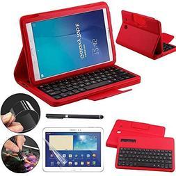 Galaxy Tab E 9.6 Keyboard Case with Screen Protector & Stylu