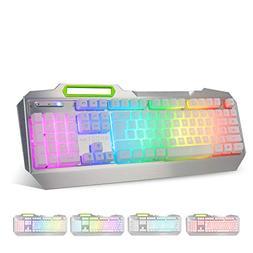 Gaming Keyboard, Anti-Ghosting Multimedia RGB LED Backlit ,