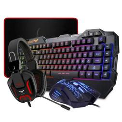 HAVIT Gaming Keyboard Mouse Headset & Keyboard, Mouse, and M