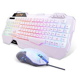 HAVIT HV-KB558PCM LED Backlit Wired Keyboard and Mouse Combo