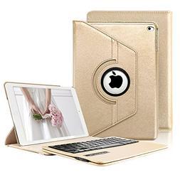 iPad 2/3/4 Keyboard Case, KVAGO Slim-Fit Protective Case 360