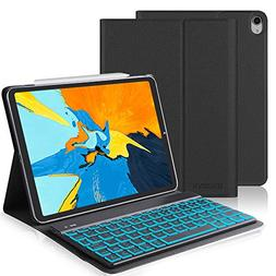 Keyboard Case Compatible iPad Pro 11, SENGBIRCH PU Leather C