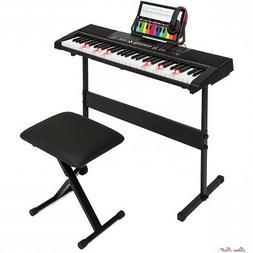 Keyboard For Kids Electronic 3 Teaching Modes Stool Headphon