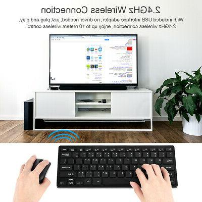 2.4GHz Wireless Keyboard Mice Combo Set with USB PC