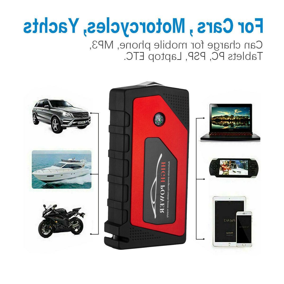 12V Car Starter Portable USB Battery Booster Clamp 69800mah