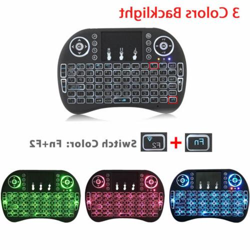 2.4G Backlit Wireless Keyboard Touchpad Rechargeable for Sma