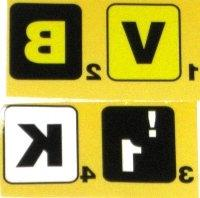 Beam n Read EXTRA BOLD, Large Print Keyboard Stickers, 4 Hig