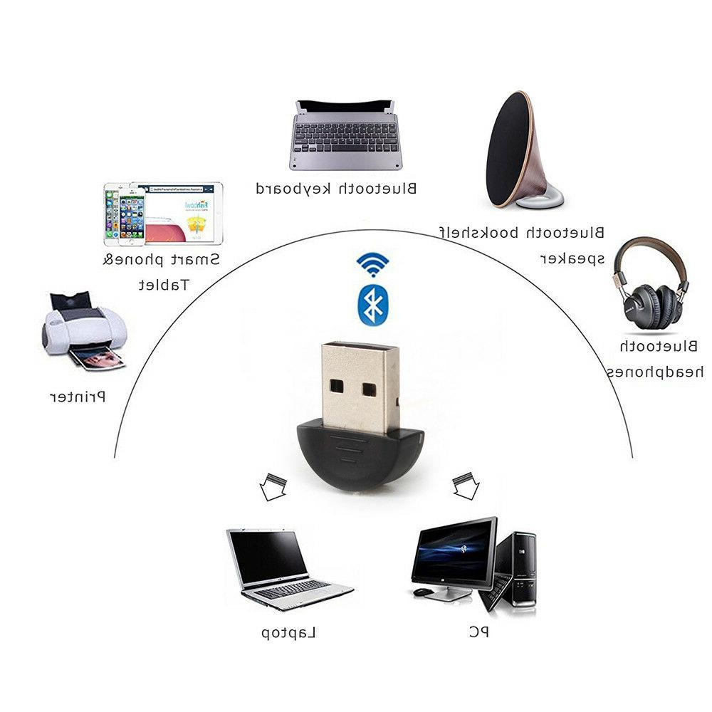 USB Bluetooth Adapter For PC Stereo Music Keyboard Mouse Win