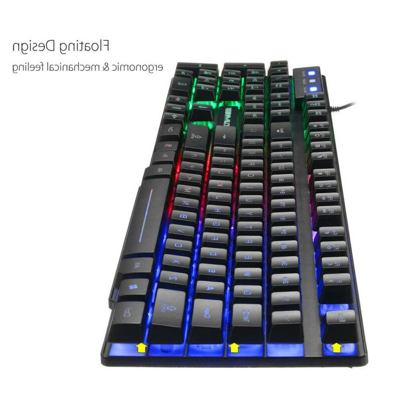 RGB Backlit Mouse Color Rainbow Anti-ghosting