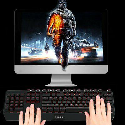 Large LED Lighted Computer Keyboard Full USB 2.4GHZ