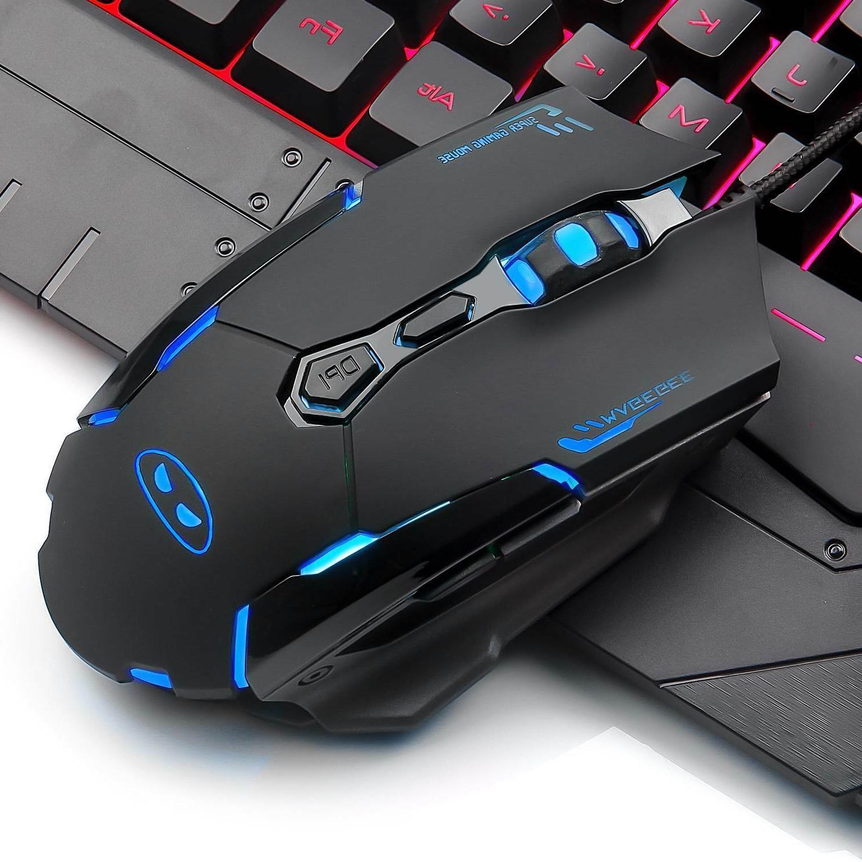 Gaming Mouse Combo Rainbow LED Mechanical DPI