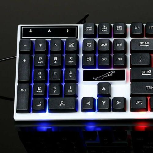 Gaming Keyboard Mouse Set Rainbow For PC Laptop Xbox One 360