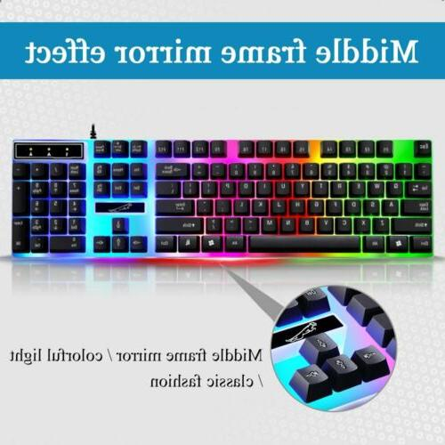 Gaming Keyboard Rainbow Wired For Xbox 360