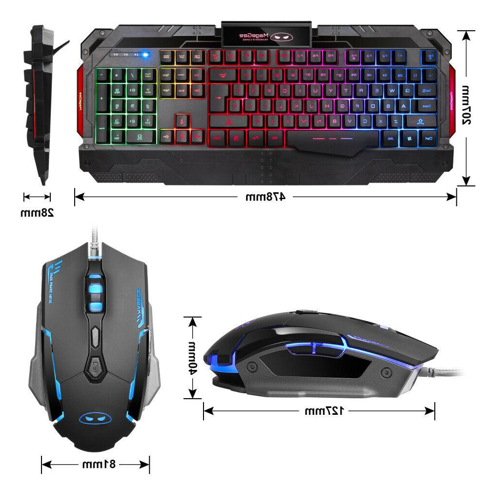 GK806 Gaming and Mouse Combo 104Key Wrist for PC