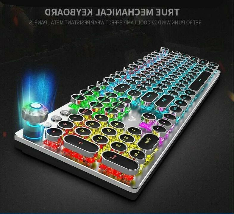Mechanical Keyboard Metal Retro Keys