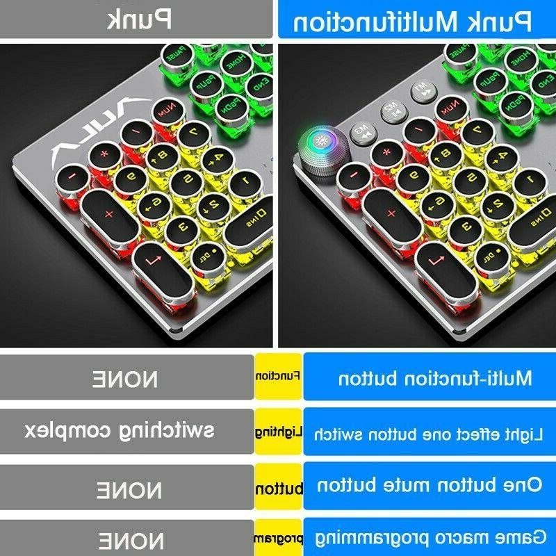 Mechanical Retro 104 Keys Multifuntion RGB