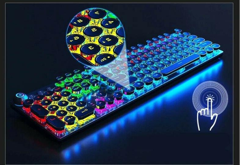 Mechanical Keyboard Retro Keys RGB