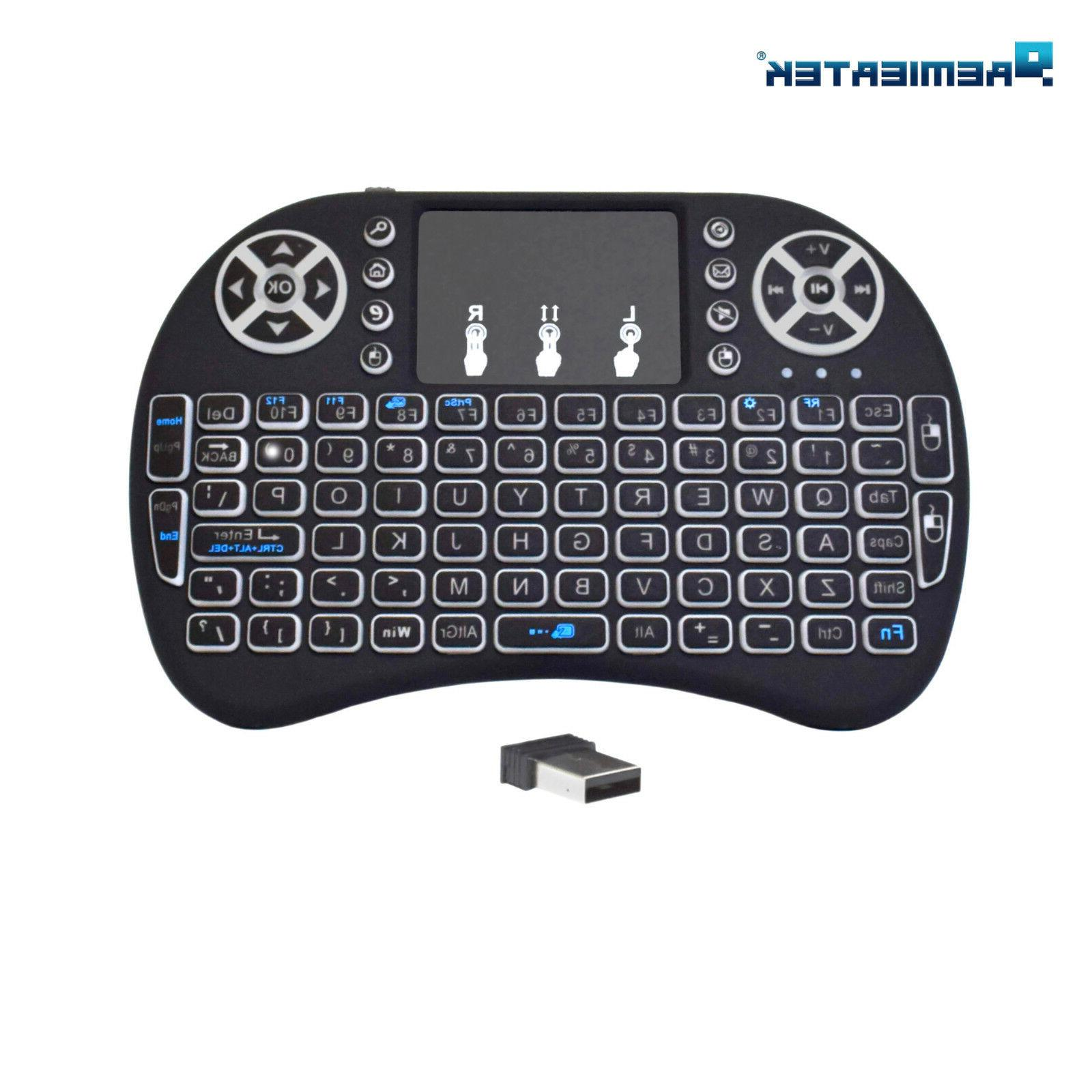 Mini Keyboard Remote Control Backlight for Smart TV TV Box