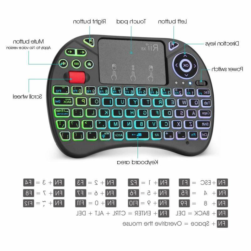 Mini Keyboard,Rii X8 2.4Ghz Mini Wireless Keyboard Controller With
