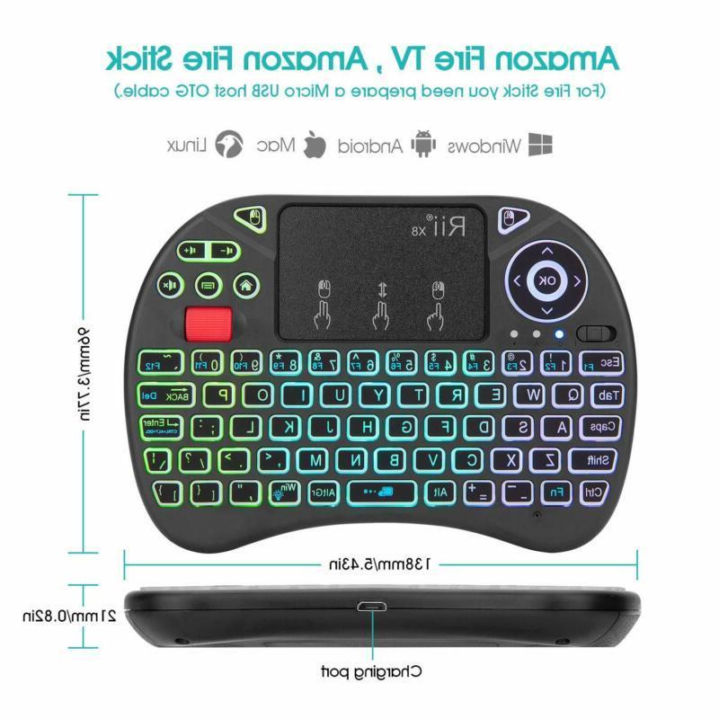 Mini Keyboard,Rii Portable 2.4Ghz Mini Wireless Controller