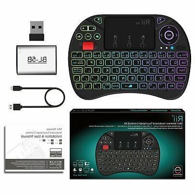 Mini Keyboard,Rii Portable 2.4GHz Mini Keyboard Controller with