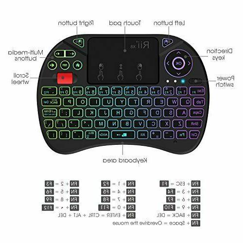 Mini Keyboard,Rii 2.4GHz Wireless Keyboard with...