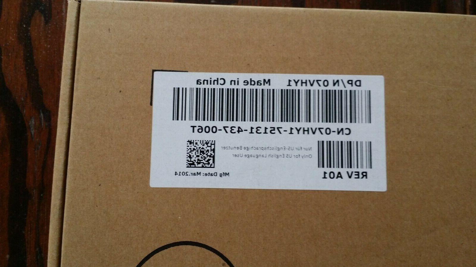 New Dell 7VHY1 USB Wired 104 Key black 07VHY1