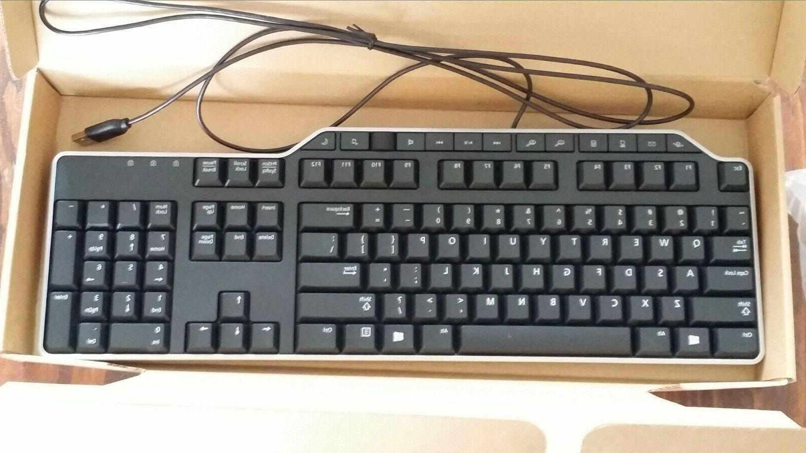 New Dell 7VHY1 Wired Multi Media 104 Key black Keyboard 07VHY1