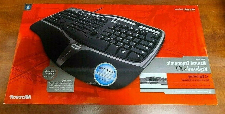 new in box natural ergonomic keyboard 4000
